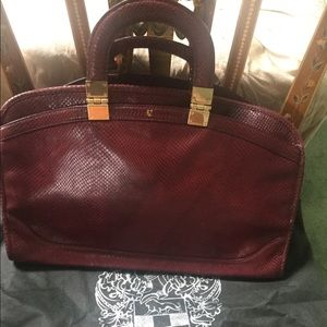 Vince Camuto burgundy leather satchel